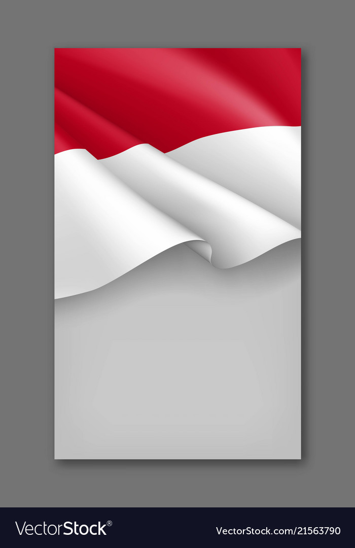 indonesian patriotic background template vector image