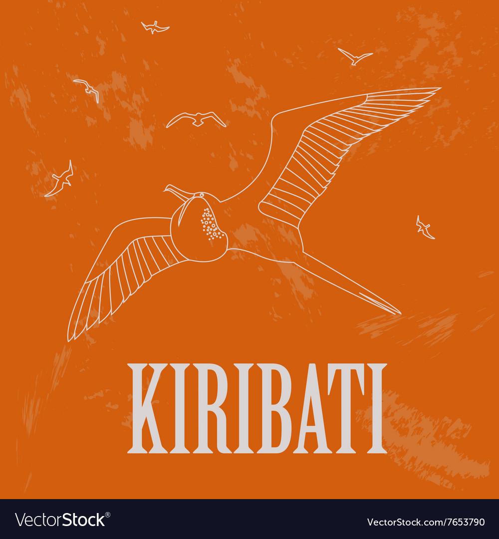Kiribati Retro styled image