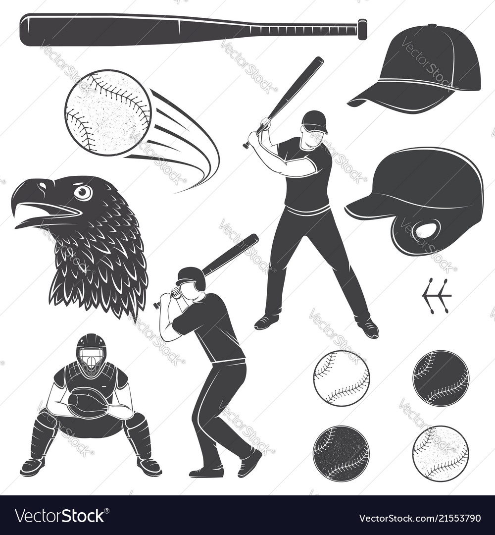 Set of baseball equipment and gear
