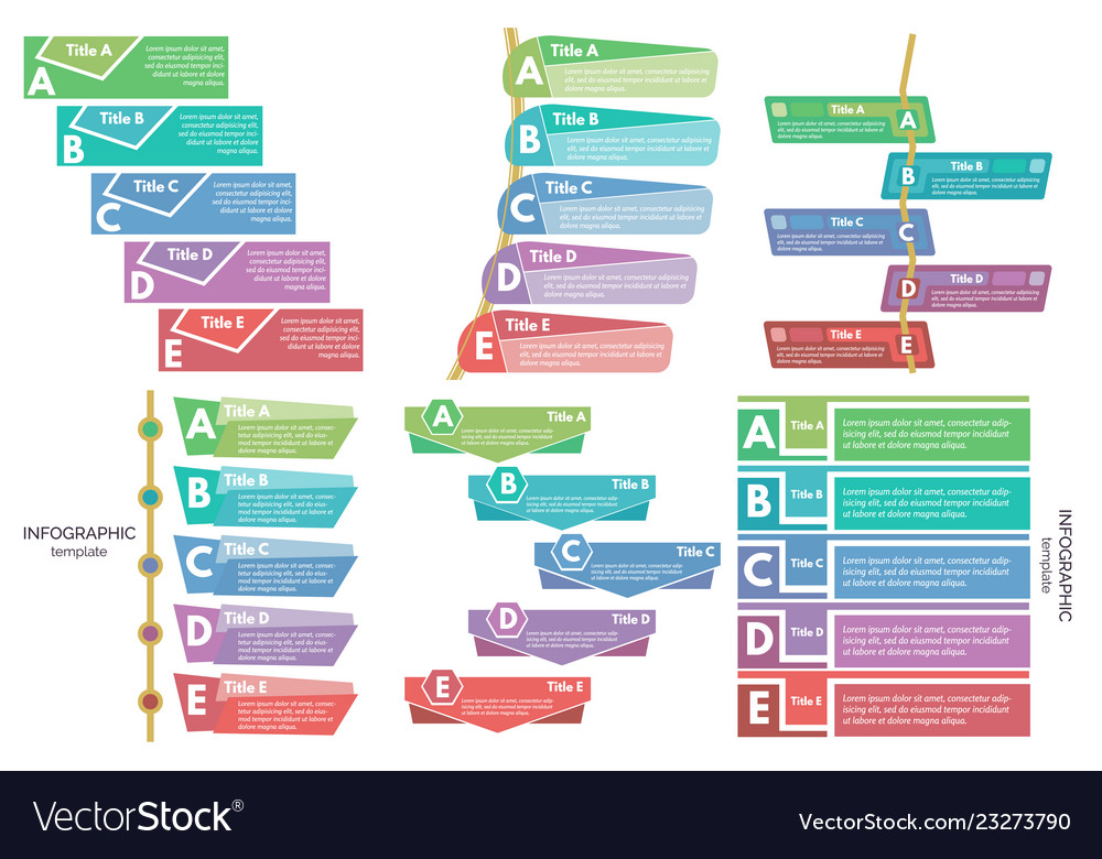 Set of six elements of infographic design