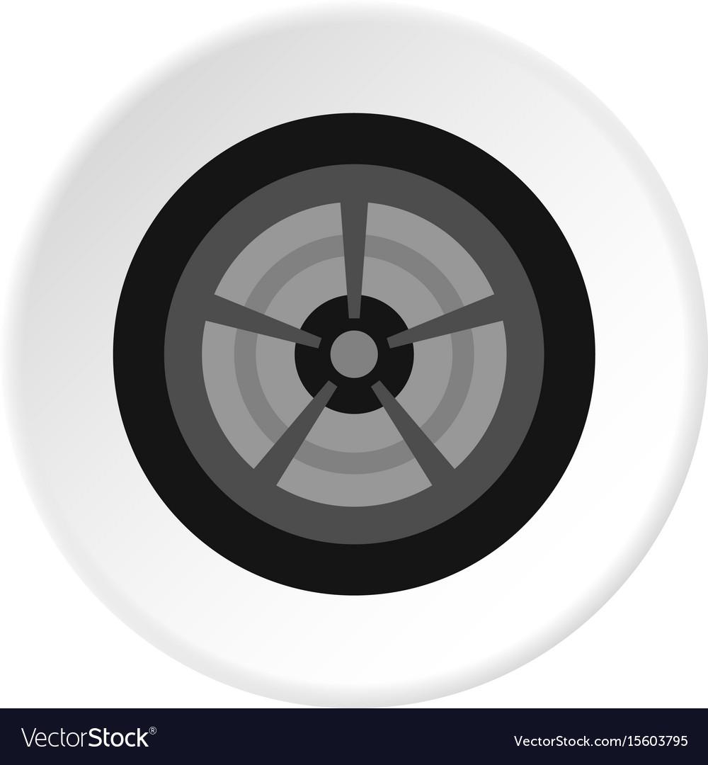Car wheel icon circle