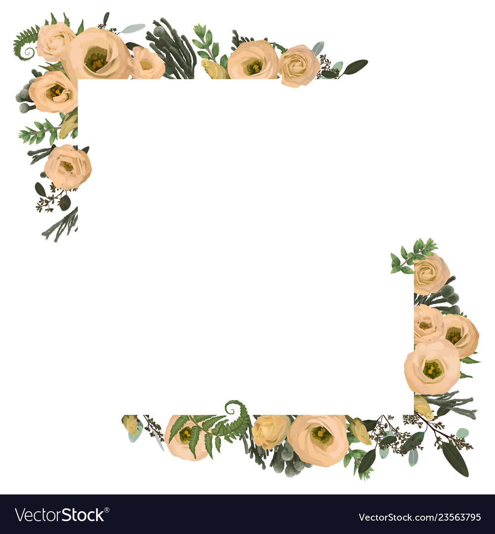 Card floral design with eucalyptus branches