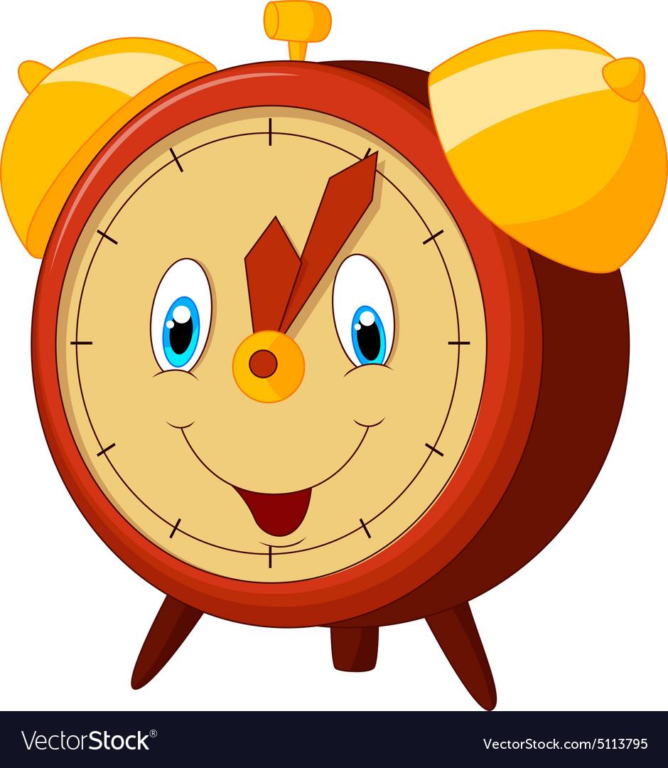 Cartoon Alarm Clock Royalty Free Vector Image Vectorstock