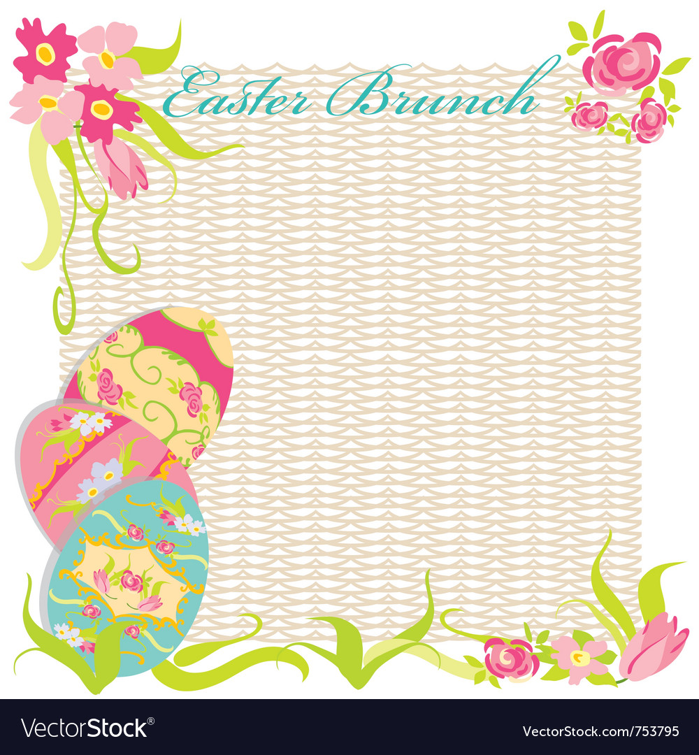 Easter brunch invitation party royalty free vector image easter brunch invitation party vector image stopboris Images