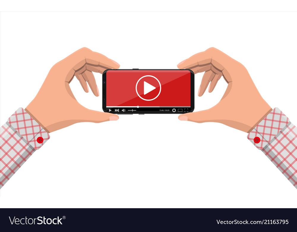 Frameless smartphone with video player on screen