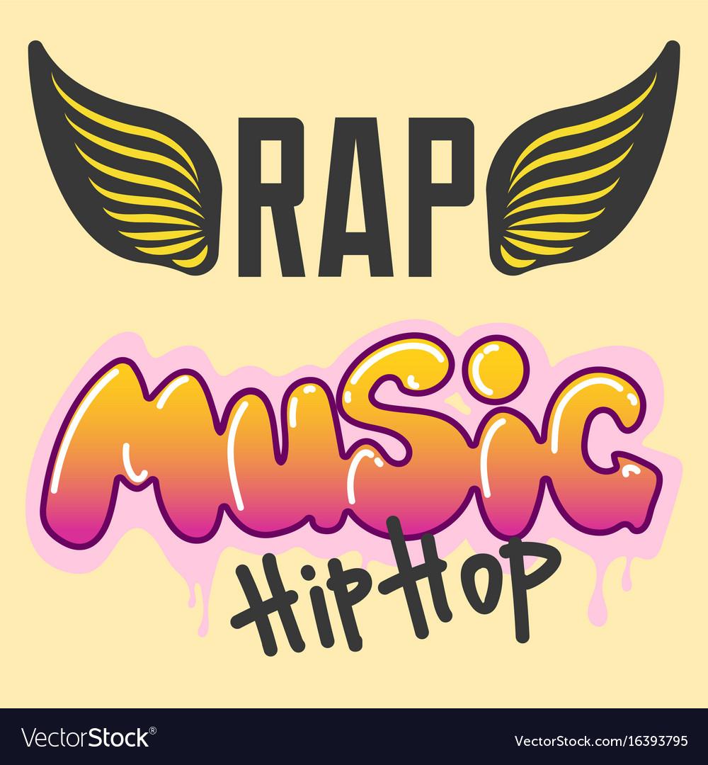 Graffiti hip-hop music text art urban Royalty Free Vector