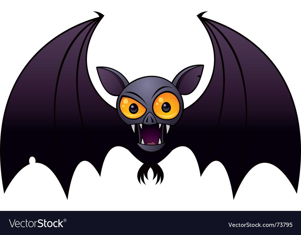 Halloween vampire bat vector image