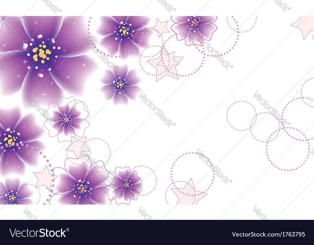 Purple flowers design vector image