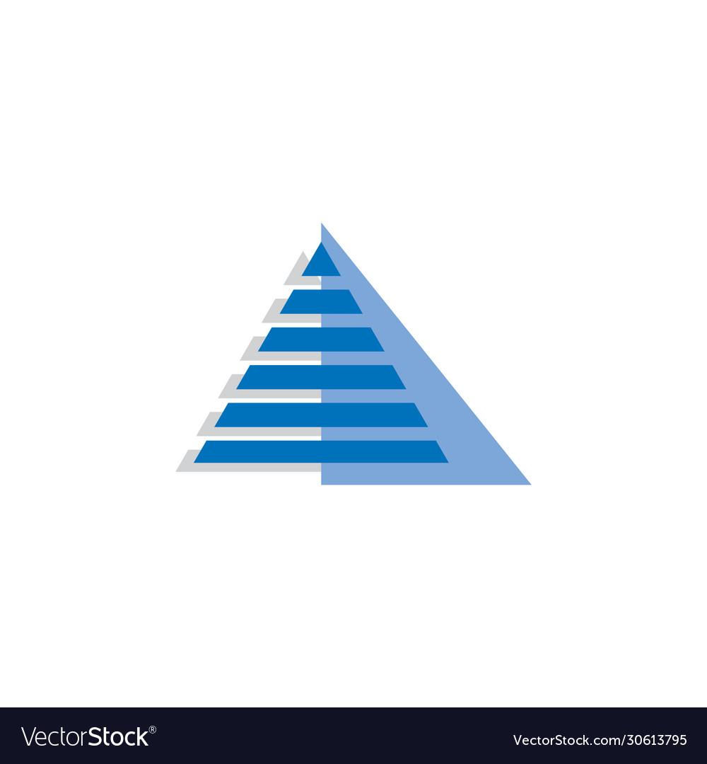 Pyramid tech logo design