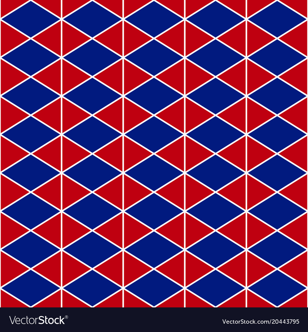 Red navy blue triangle