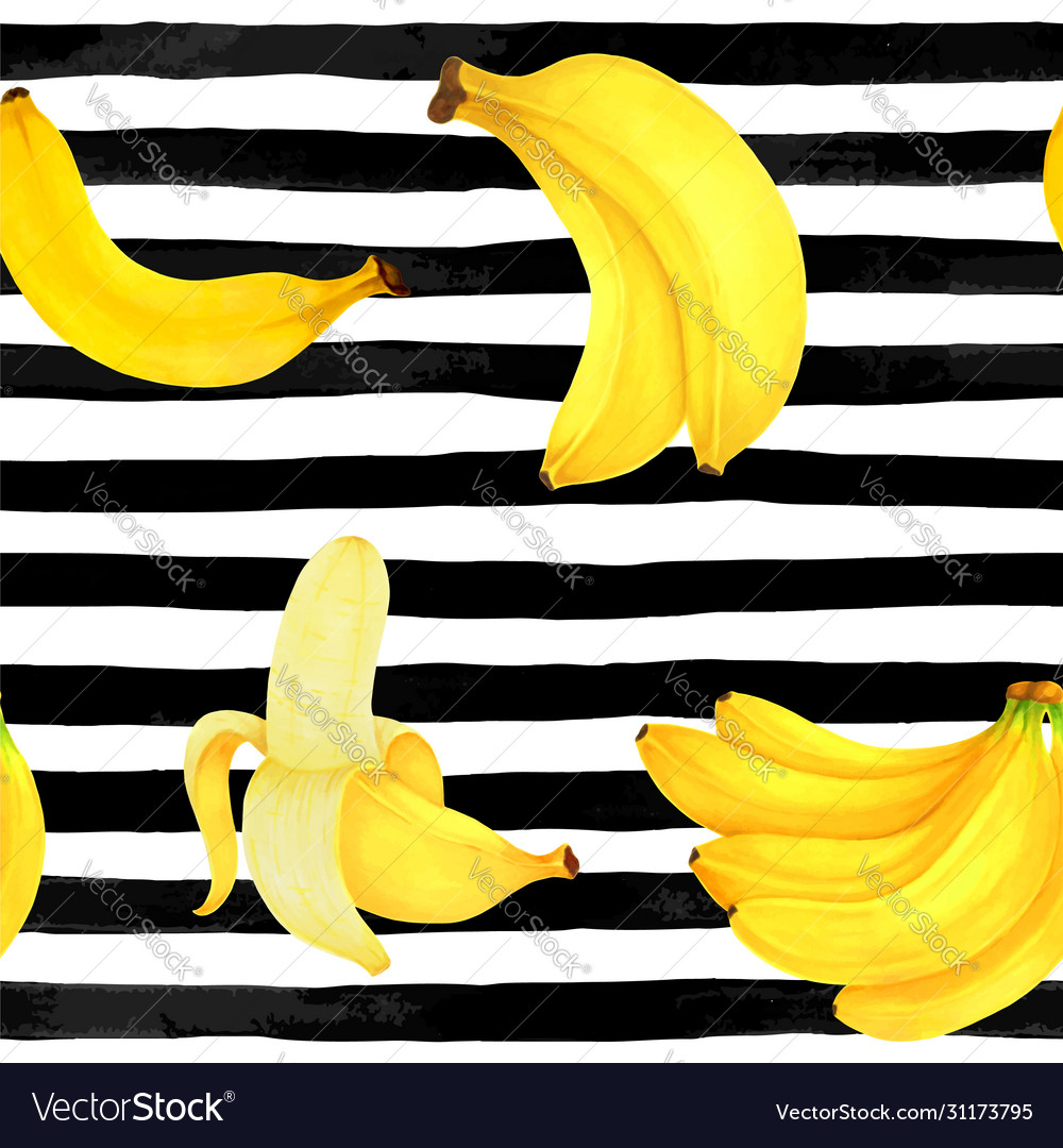 Seamless pattern markers painting bananas on
