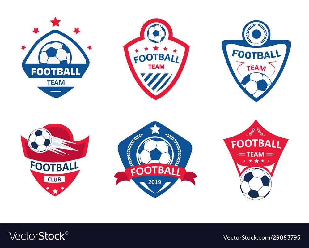 Set soccer or football club logos football