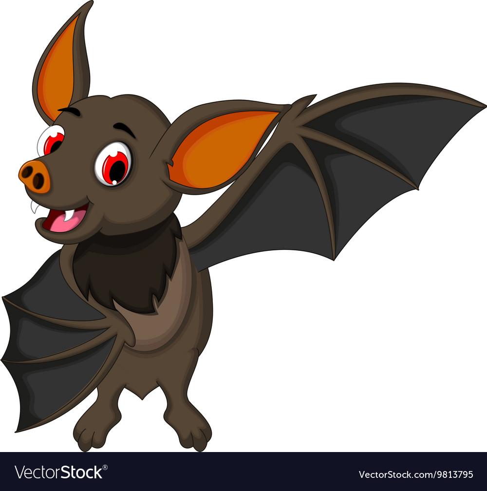 Smiling bat cartoon posing