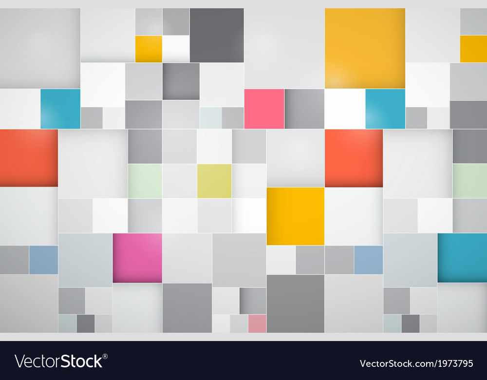 Square Colorful Abstract Background