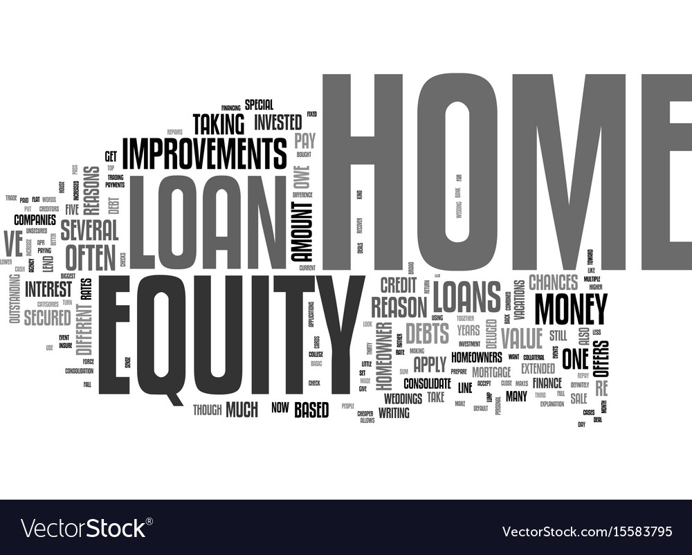 Why get a home equity loan text word cloud concept