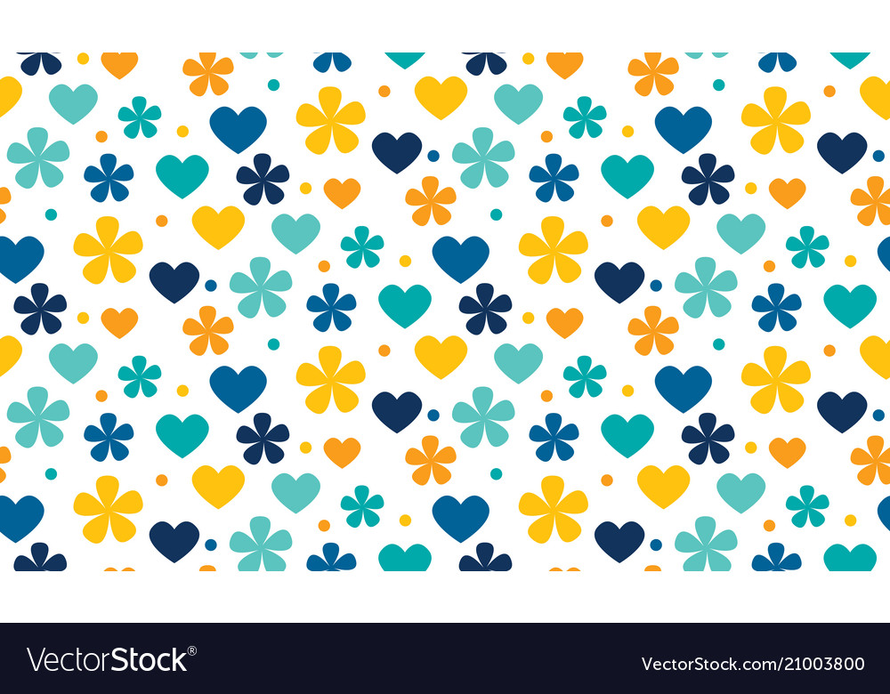 Abstract polka dot traditional floral pattern