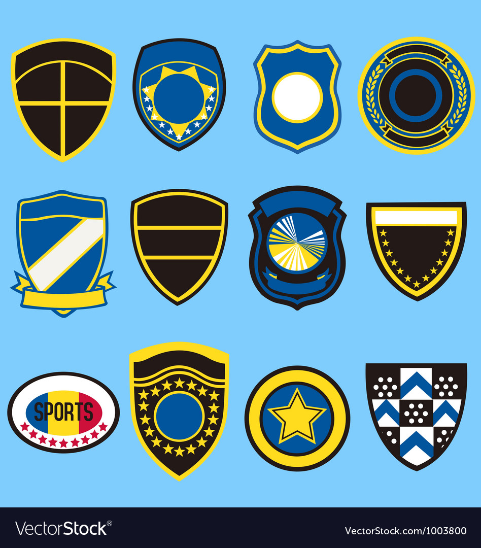 Badge icon symbol set