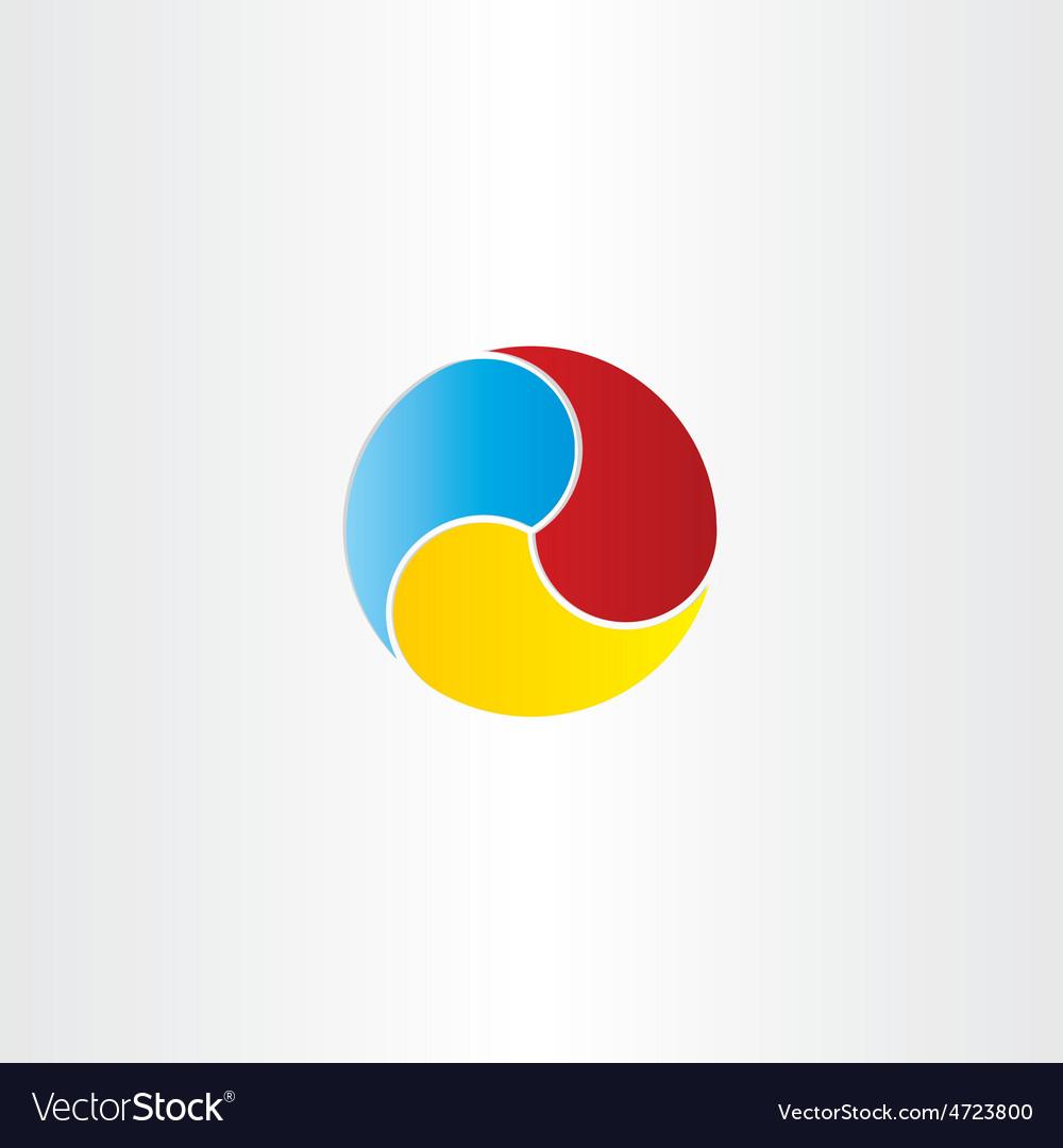 Color circle business symbol design