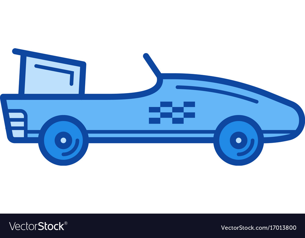 Formula one car line icon vector image