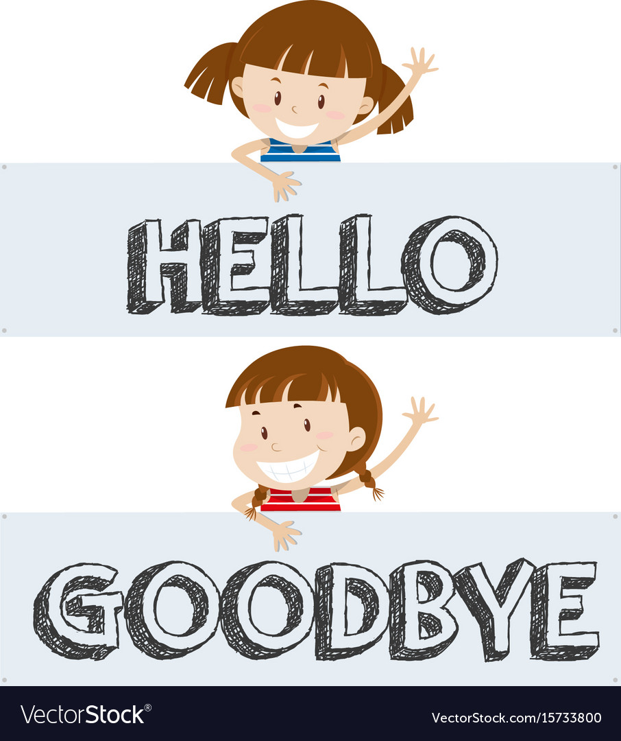 Image result for hello and goodbye