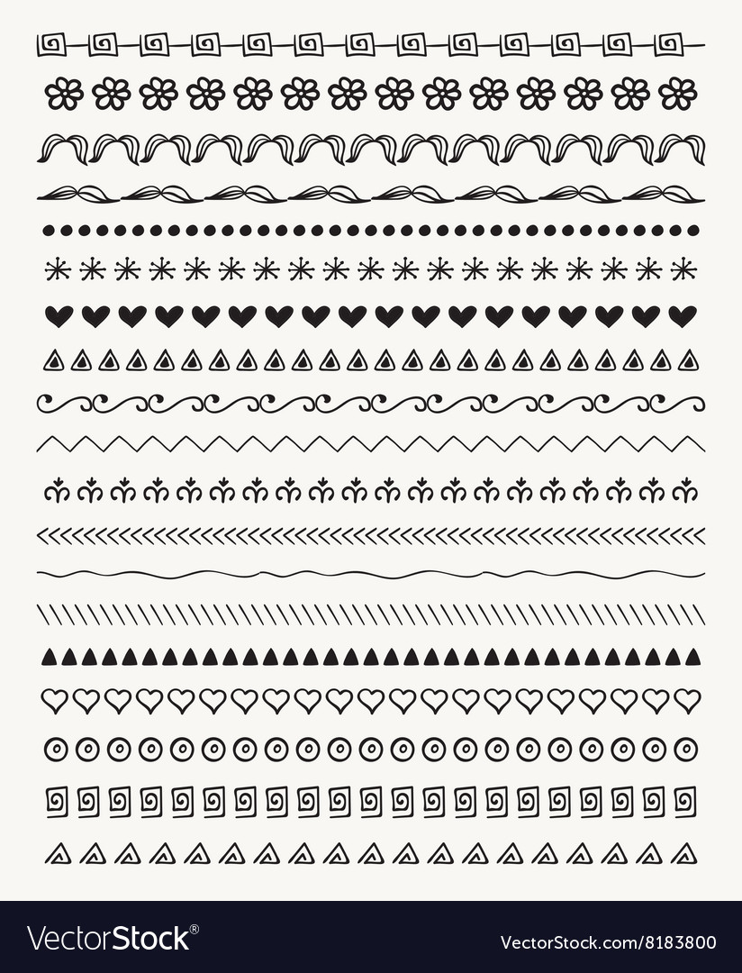 Hand Drawn Balck Pattern Brushes Line