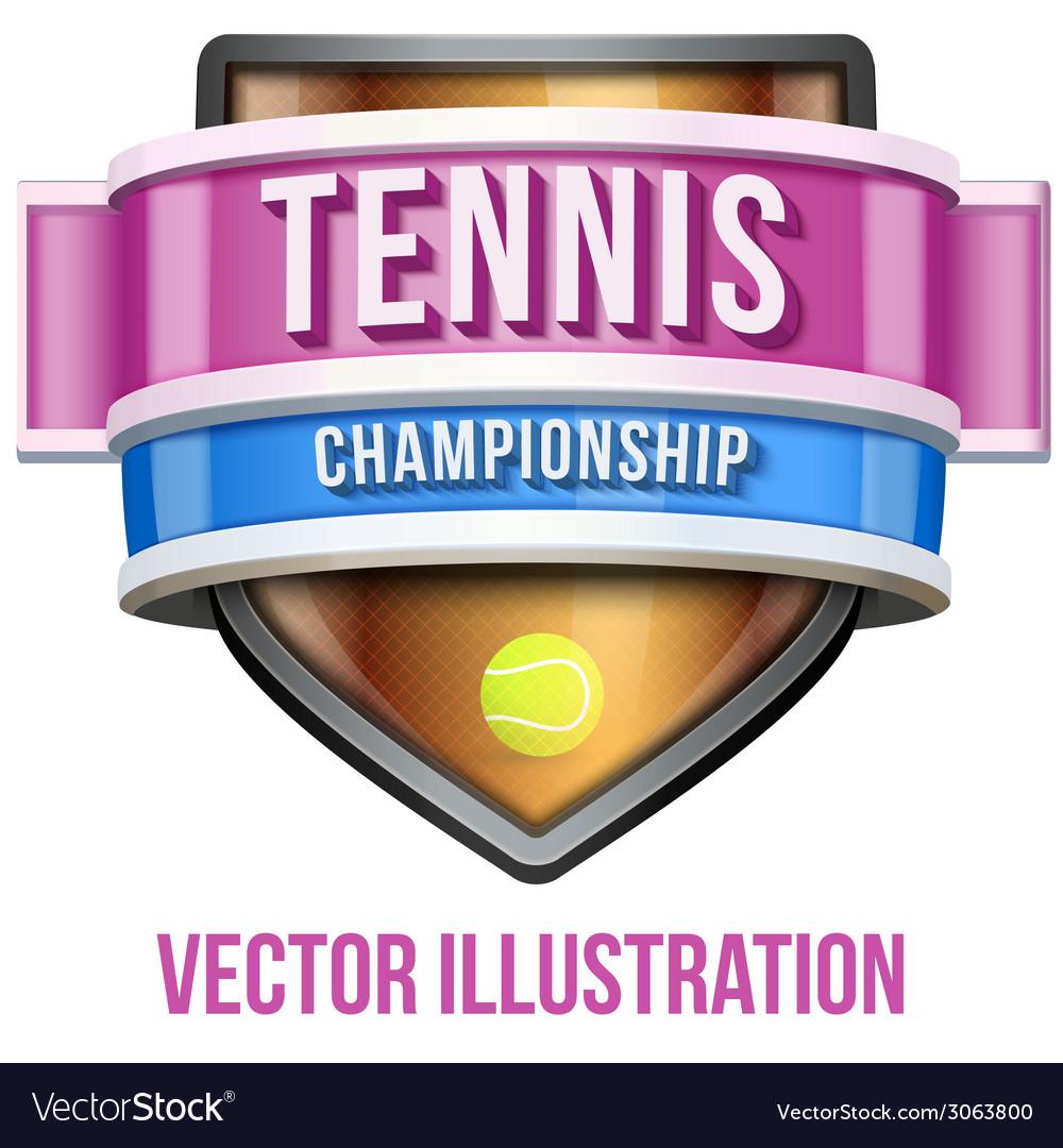 Label for tennis sport competition Bright premium