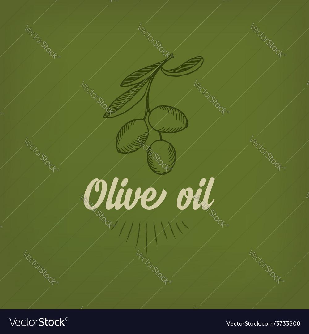 Olive oil design concept