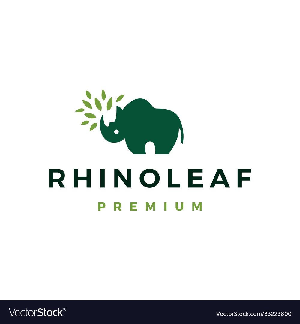 Rhino leaf logo icon