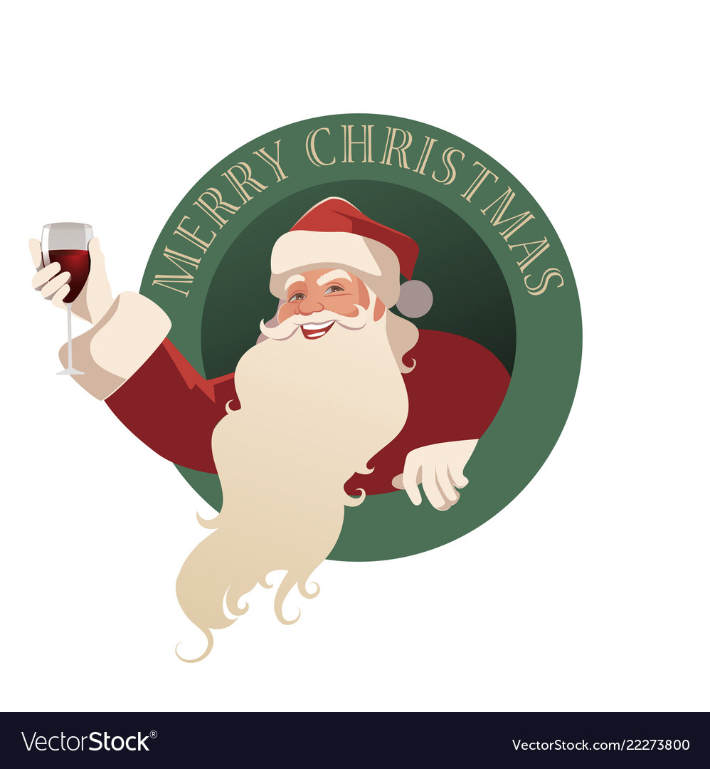 Santa claus holding a glass of wine-02