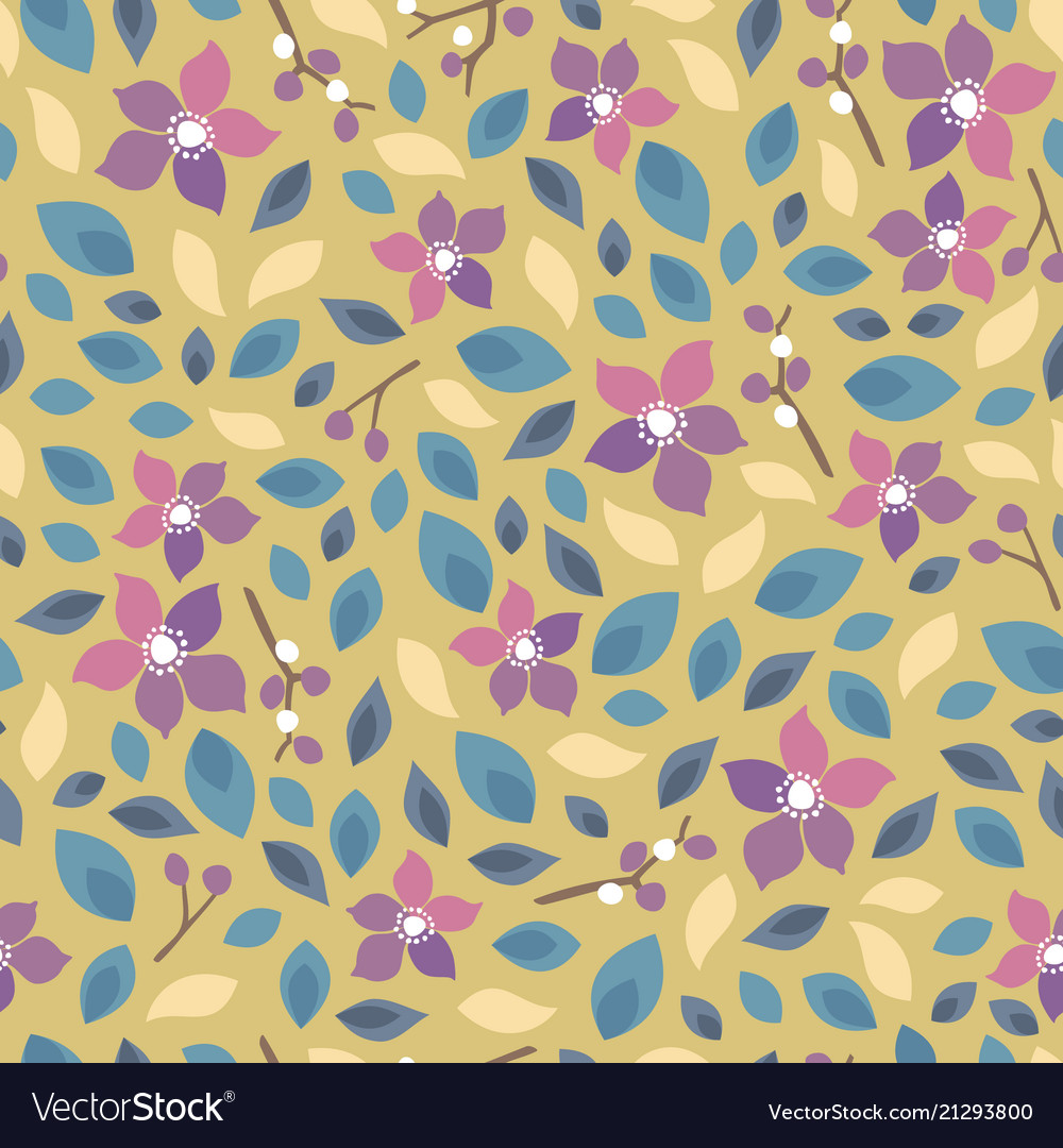 Seamless floral pattern background for invitation