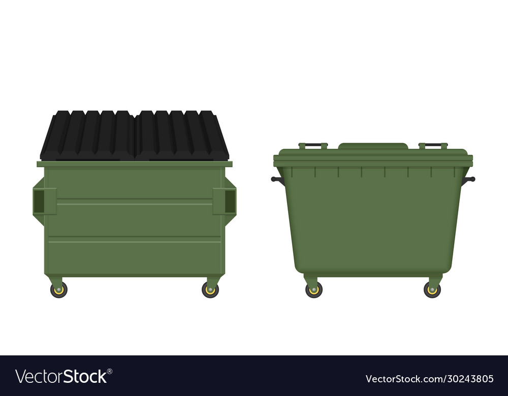 Dumpster isolated on white background