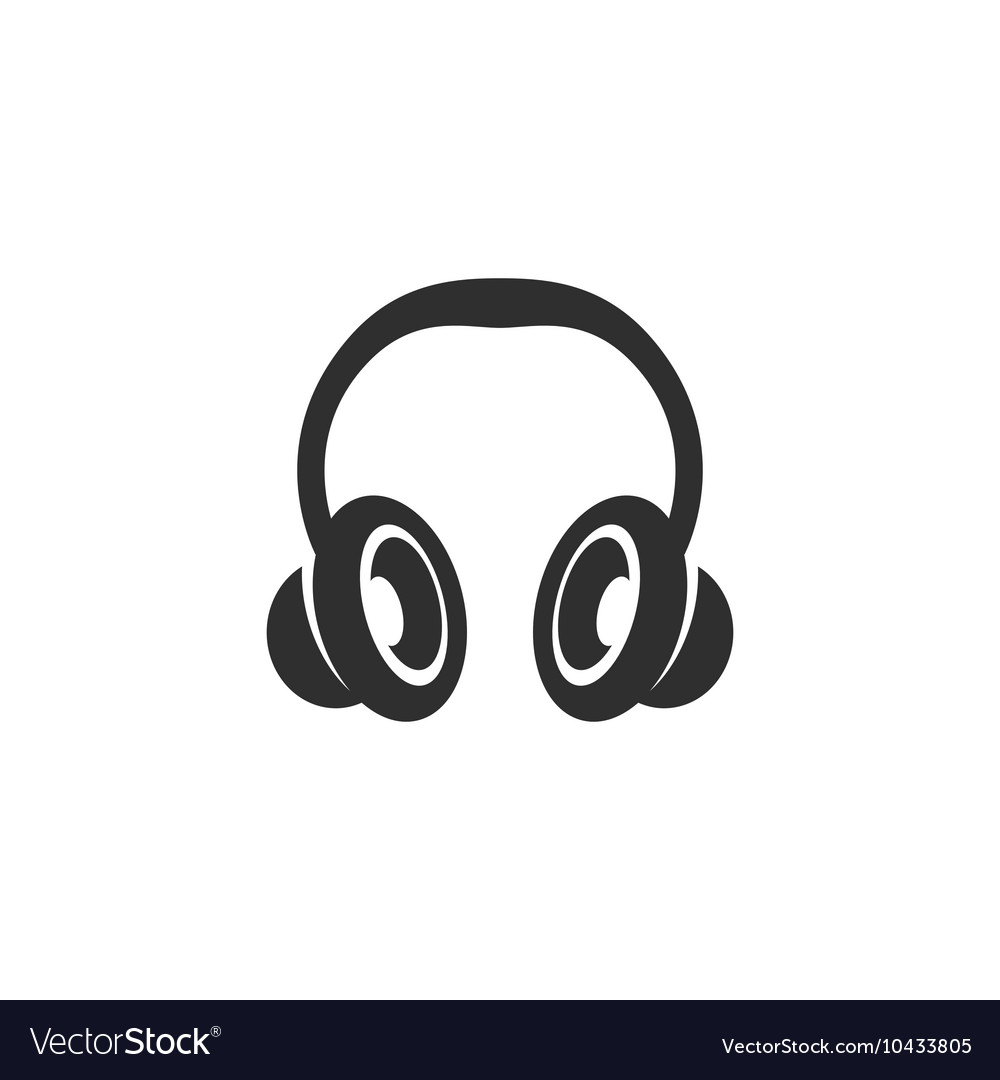 Headphone icon isolated on a white background