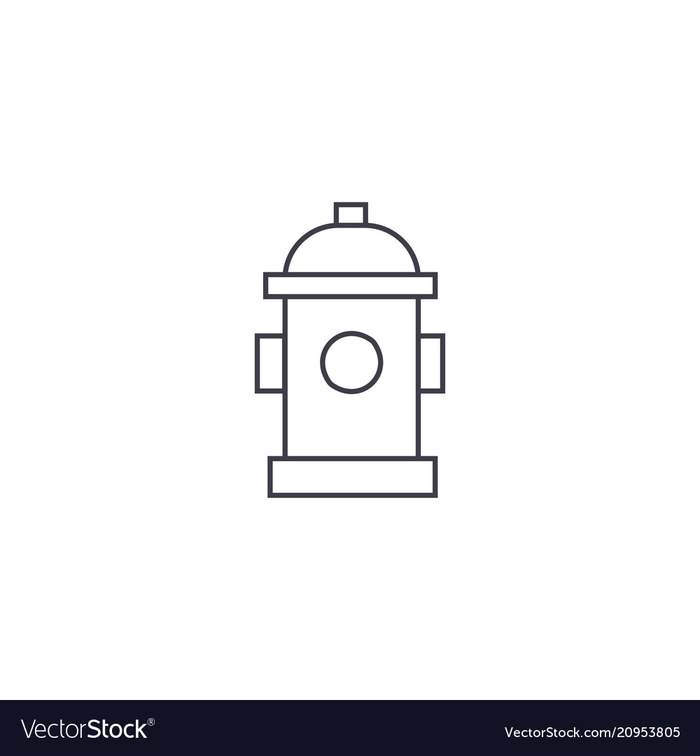 Hydrant thin line icon concept hydrant linear