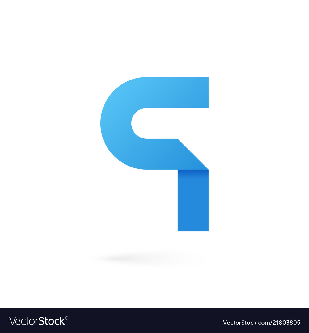 Letter q logo on white alphabet background