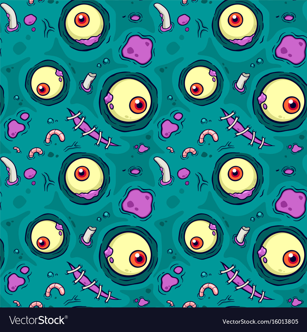 Seamless pattern with zombie