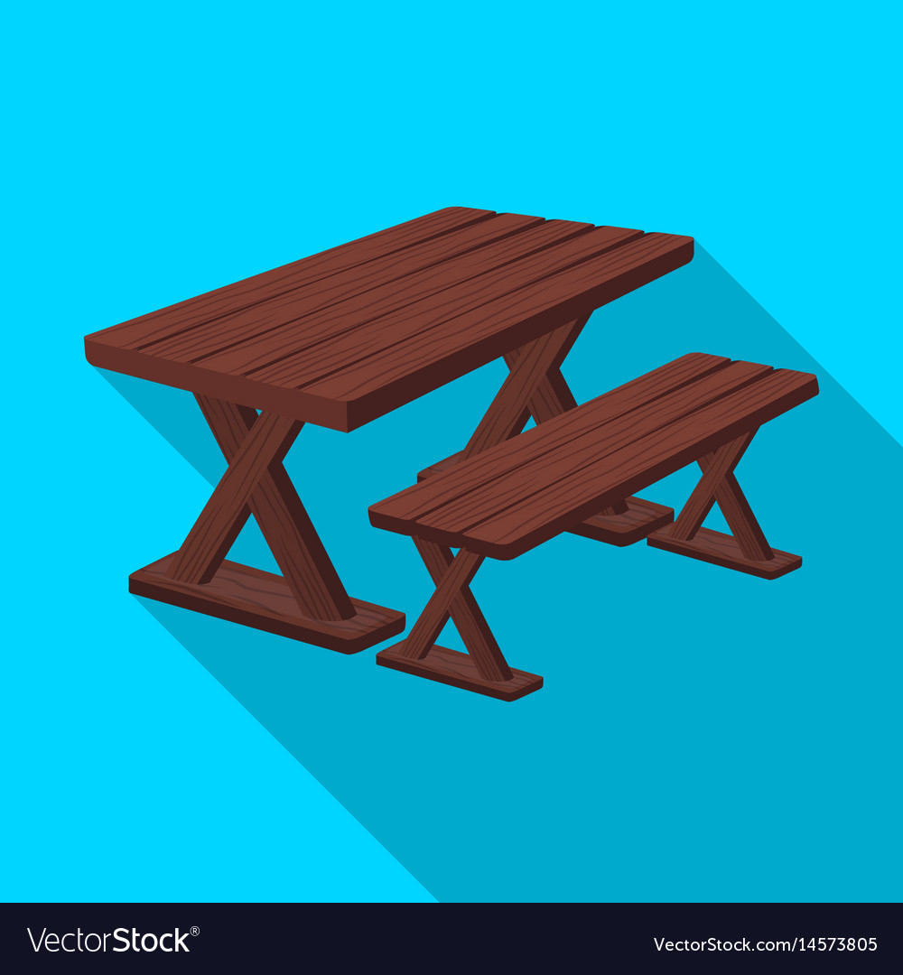 Table for restbbq single icon in flat style