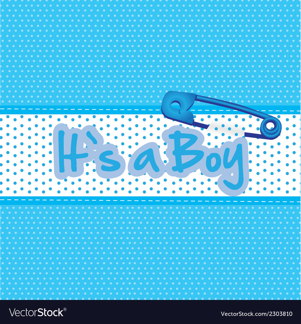 Background Baby Shower Its A Boy Royalty Free Vector Image