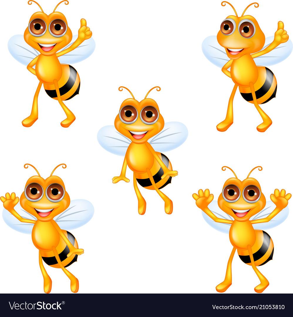 Cartoon bee collection set