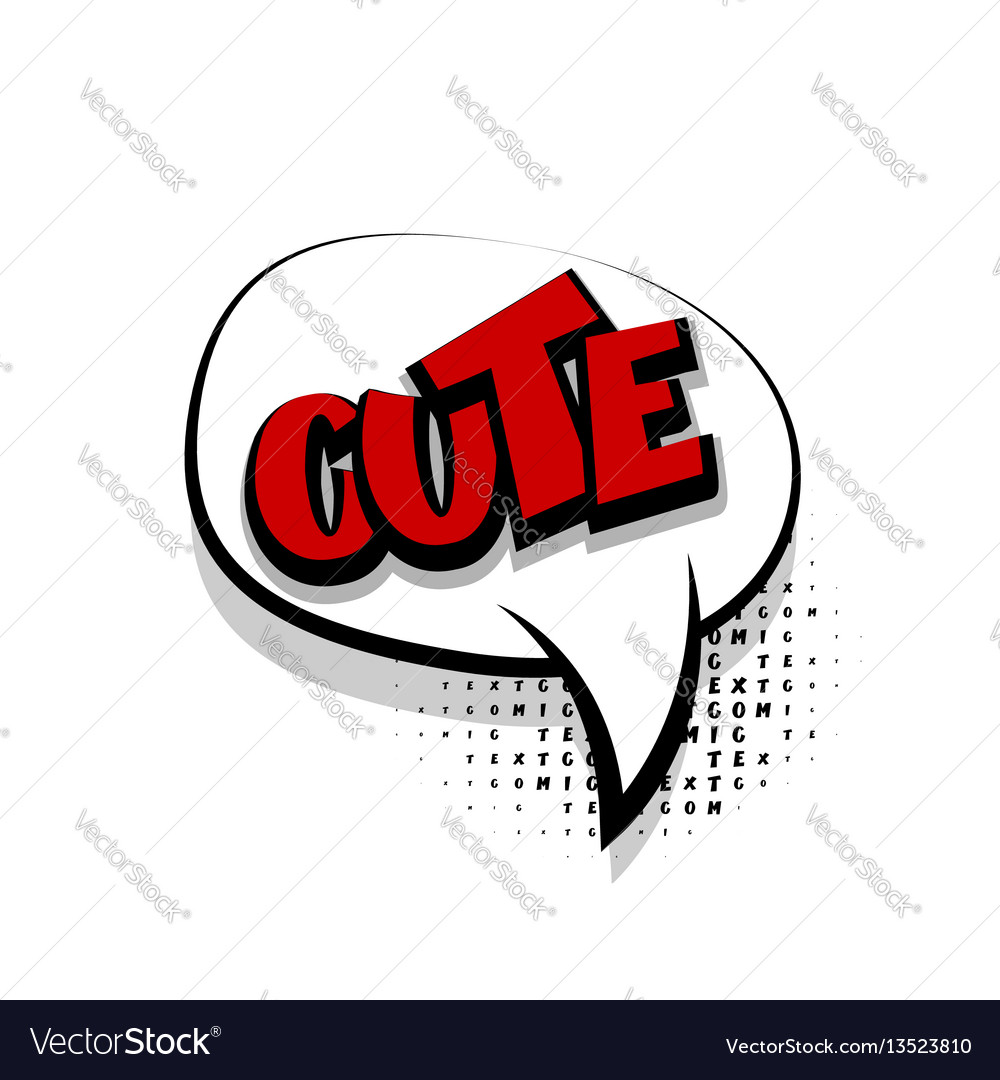 Comic text cute white cartoon cloud