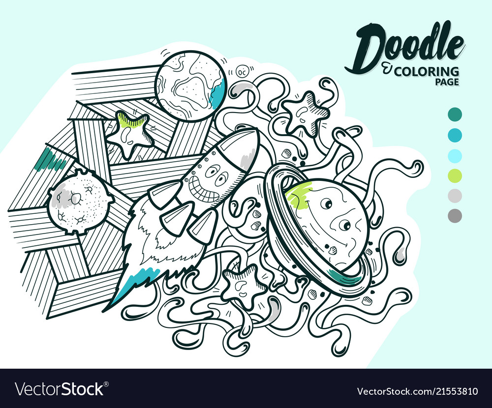 Doodle funny cosmos