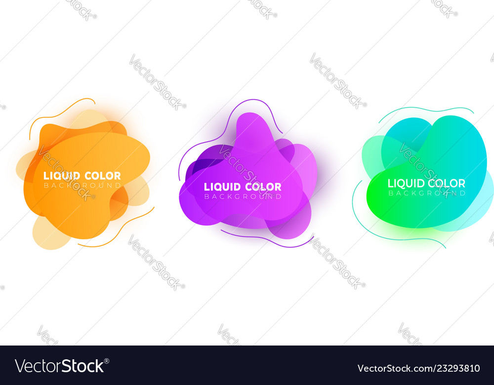 Fluid colorful bubbles abstract background