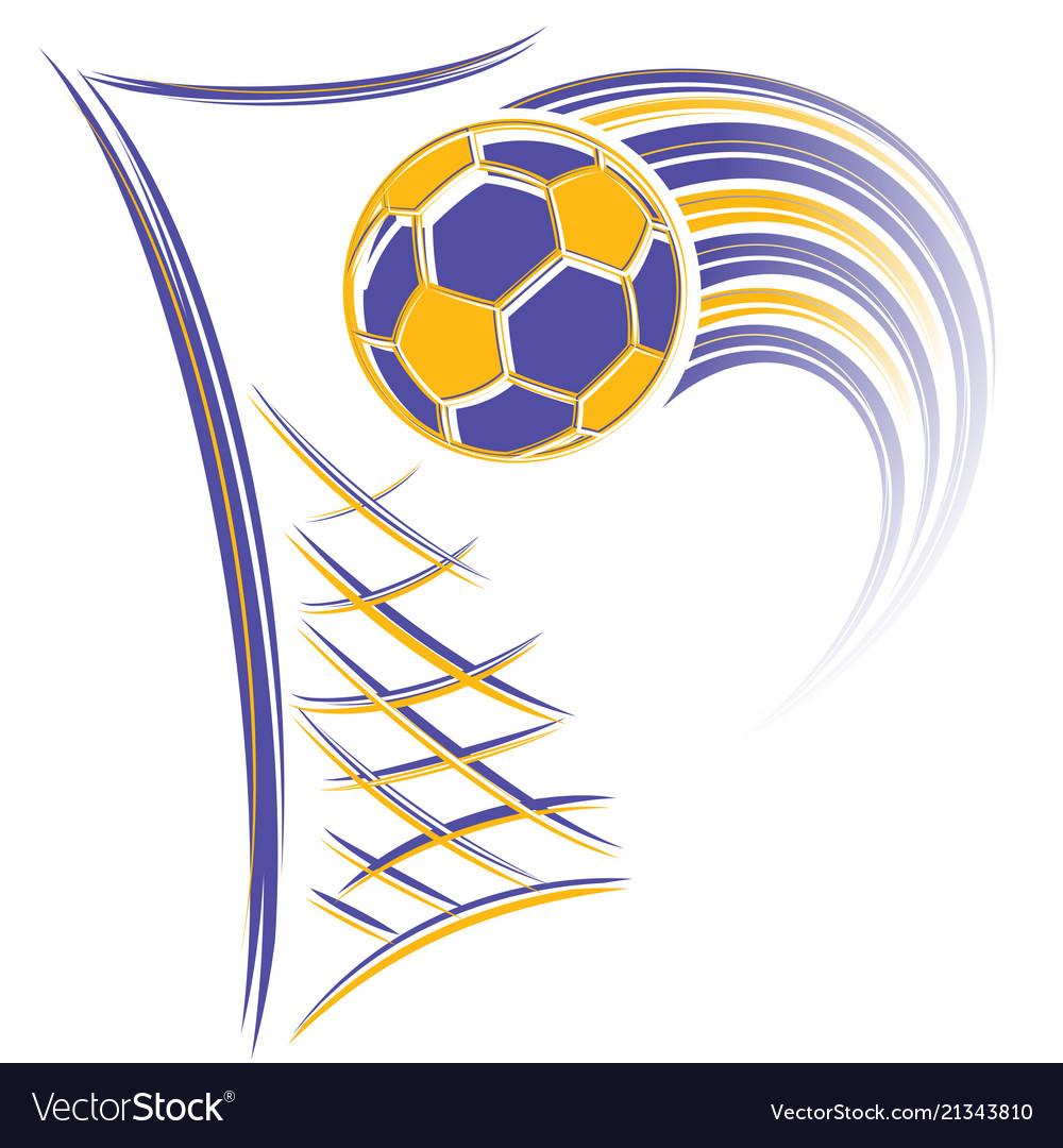 Goal and football