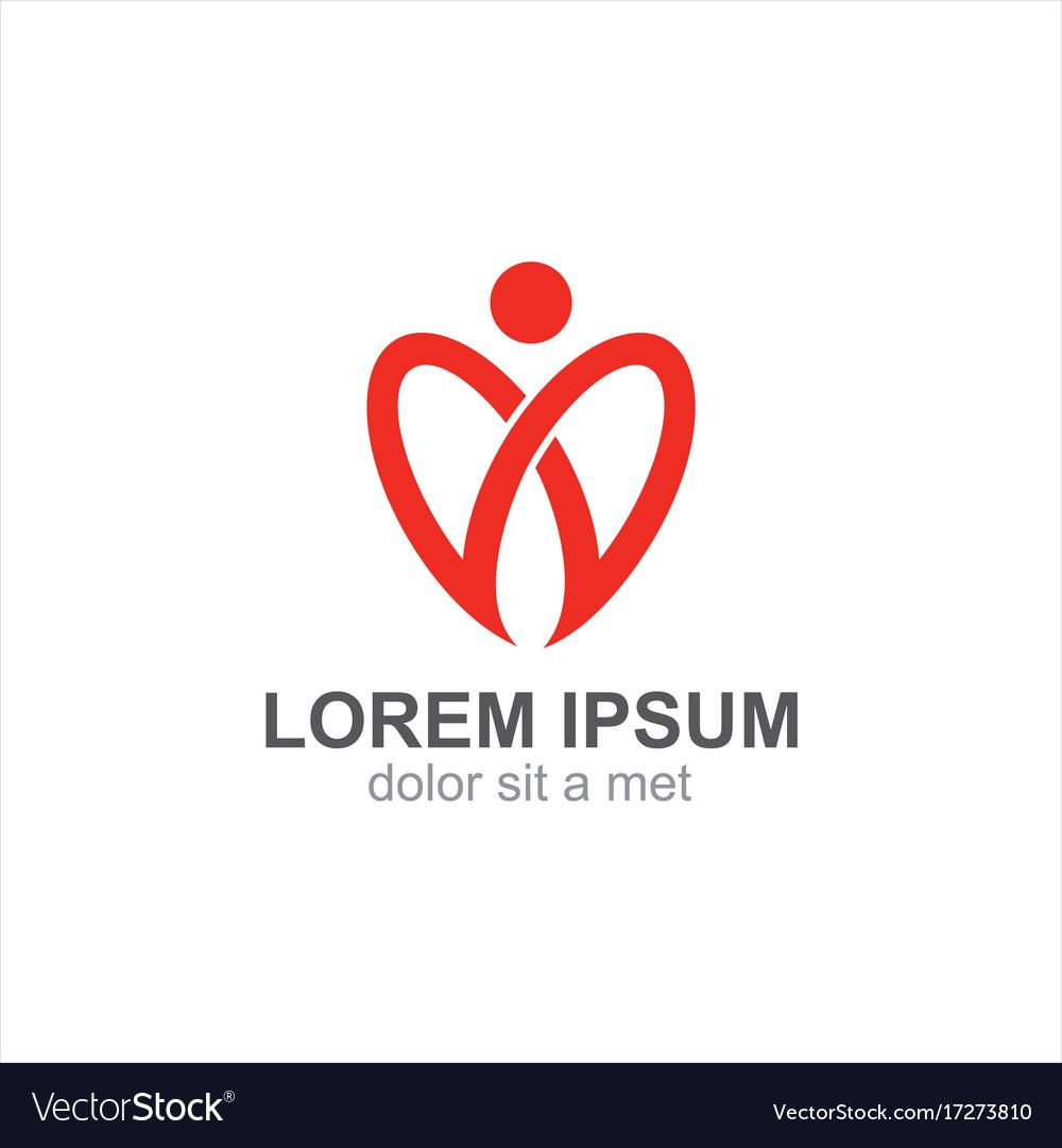 Love valentine heart logo