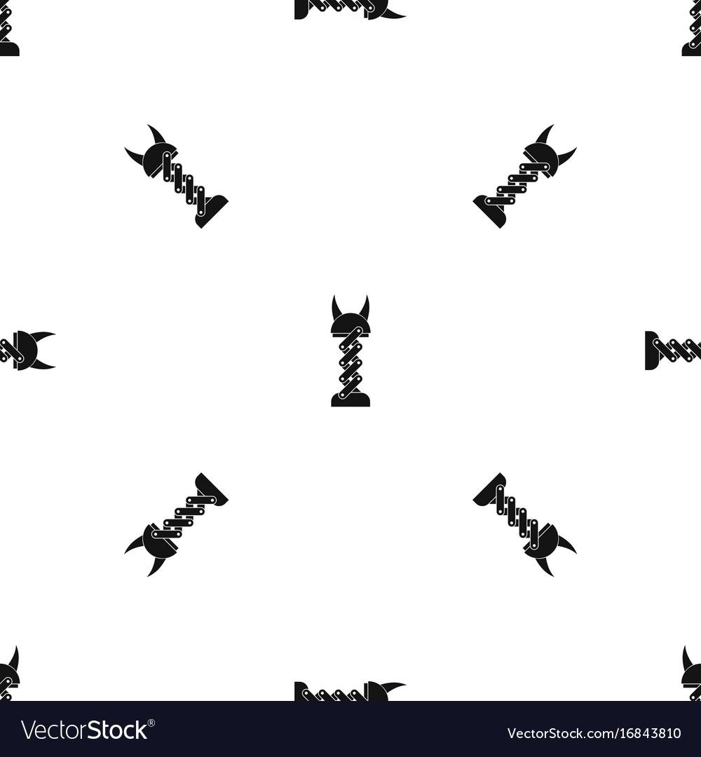 Mechanic pattern seamless black