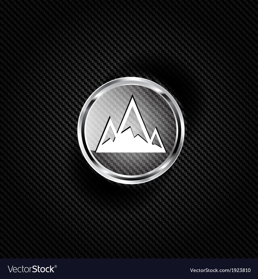 Mountains Web Icon Royalty Free Vector Image Vectorstock