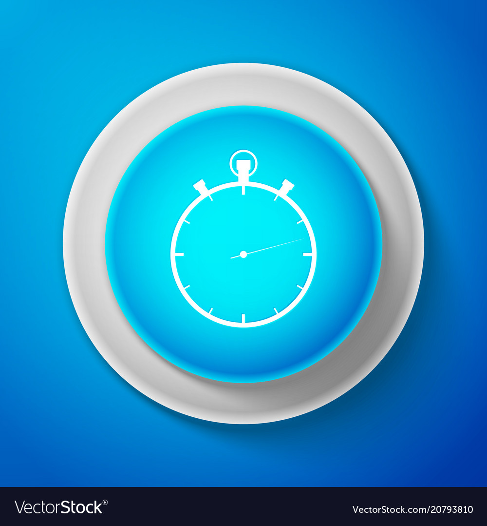 White stopwatch icon isolated time timer sign vector image