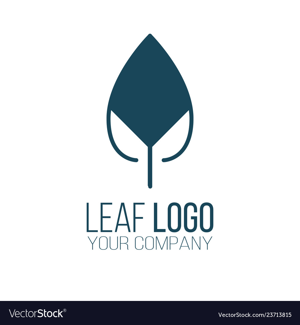 Abstract leaf logo icon design landscape design