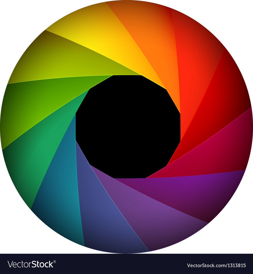 colorful shutter aperture royalty free vector image rh vectorstock com aperture vector free download aperture vector image
