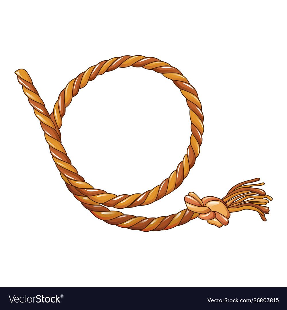 cowboy rope icon cartoon style royalty free vector image  vectorstock