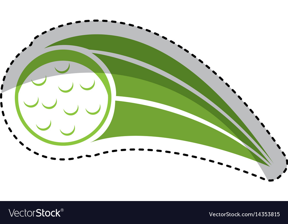 Golf ball isolated icon